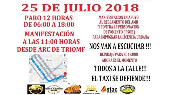 Fomento recurre el decreto Colau y el taxi comienza las movilizaciones