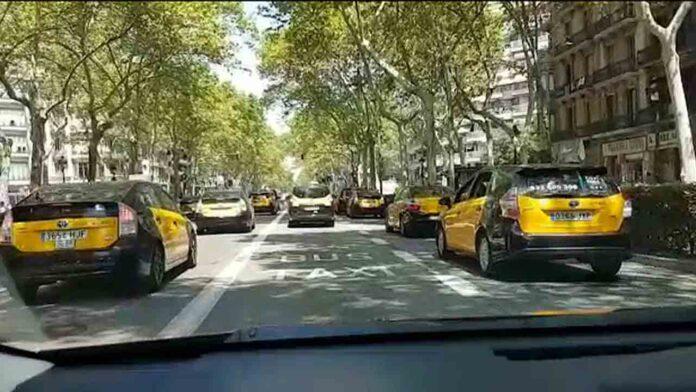 Tercer día de movilización del taxi