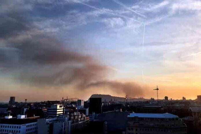 Incendio en el museo de SEAT de Barcelona