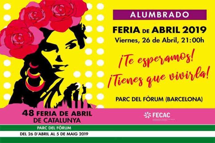 Inauguración de la Feria de Abril en Barcelona