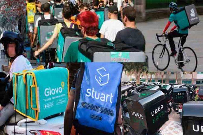 Deliveroo, Uber y Glovo hostigan a los políticos para cambiar las leyes