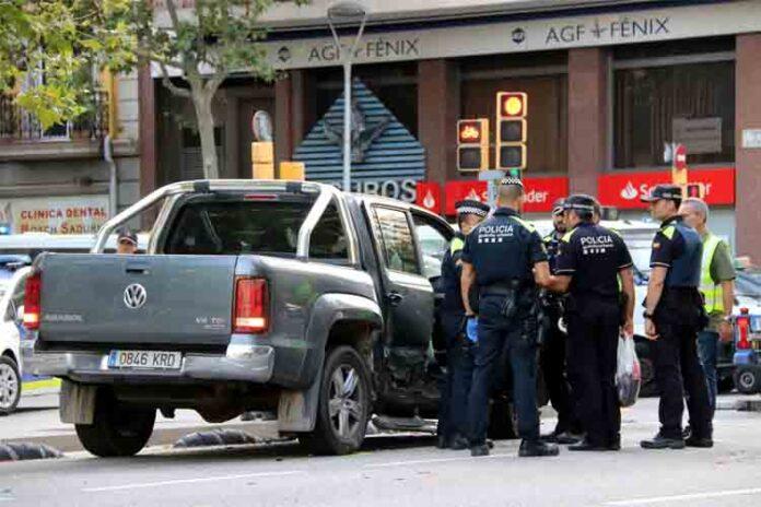 Detenido un conductor que ha causado siete heridos en Barcelona