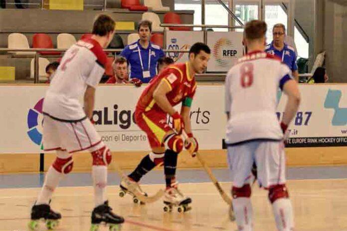 Goleada de la selección española en Hockey sobre patines