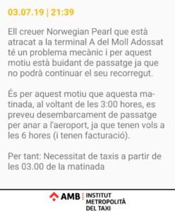 El cruceroNorwegian Pearl deja en tierra a 2.700 pasajeros