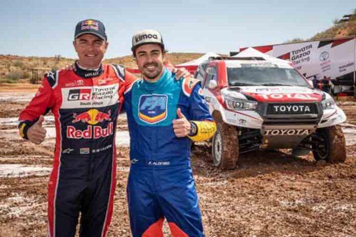 Alonso se prepara para correr en el Dakar