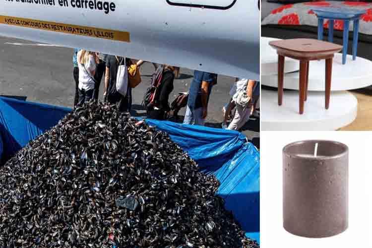 Cuando las cáscaras de mejillón se transforman en mobiliario urbano