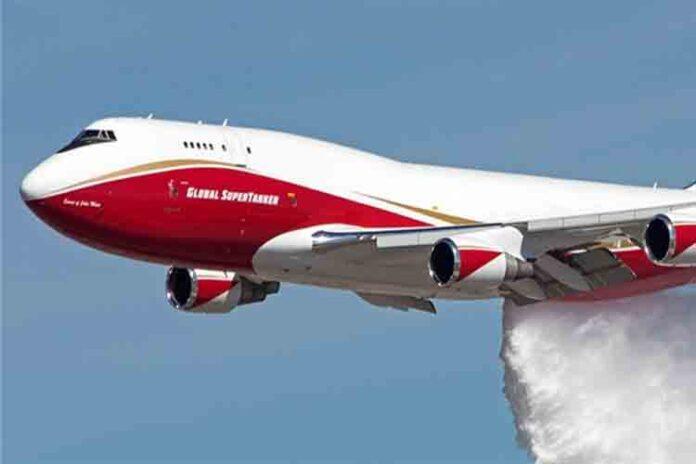 El Boeing 747 está luchando contra los incendios de la Amazonia