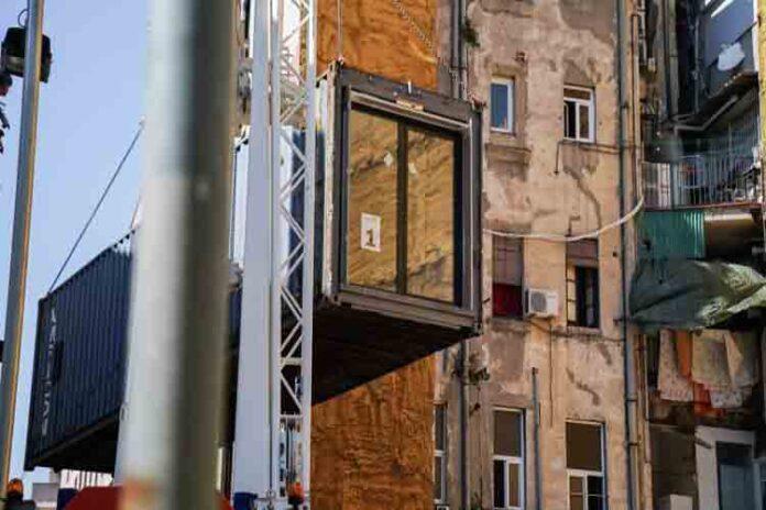 Instalación de los primeros alojamientos de proximidad provisionales