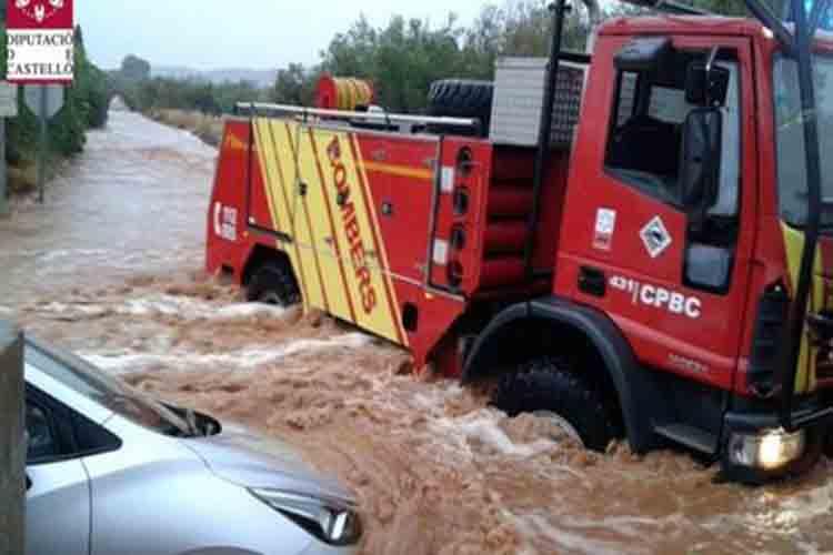 Inundaciones en el Baix Maestrat por la intensa lluvia