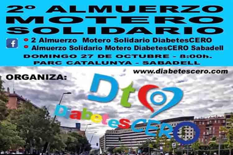 DiabetesCERO organiza un almuerzo solidario el 27 de octubre en Sabadell