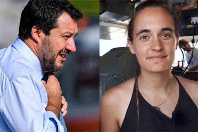 Matteo Salvini investigado por difamación a Carola Rackete
