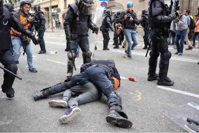 104 detenidos por las protestas en Catalunya, 28 de ellos en prisión