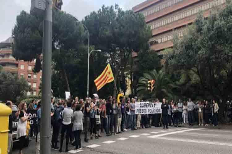 Cortes de tráfico y movilizaciones en Barcelona por la sentencia del Procés