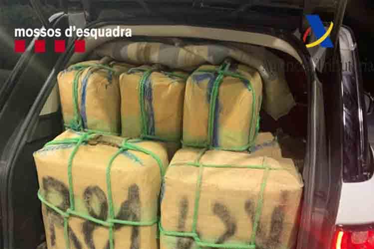 Detenidos dos hombres en la Jonquera transportando 500 kilos de hachís
