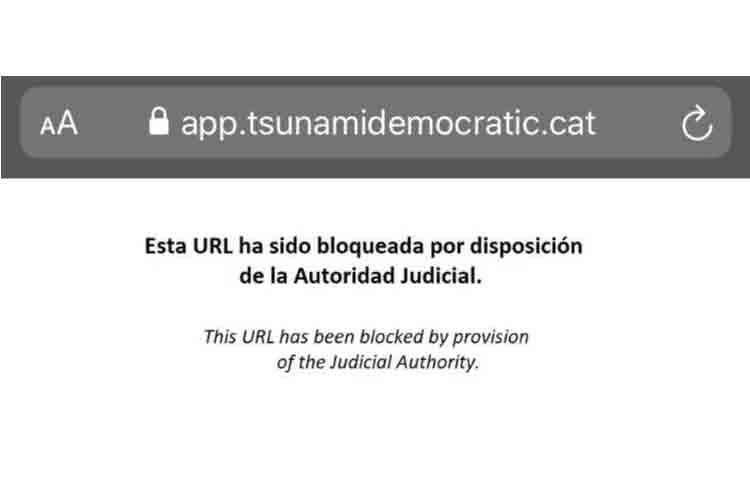 El gobierno bloquea la app tsunamidemocratic
