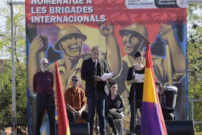 Homenaje en Barcelona a las Brigadas Internacionales de la guerra Civil