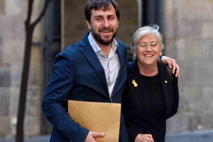 La Fiscalía pedirá la entrega de Toni Comín y Clara Ponsatí por sedición y malversación