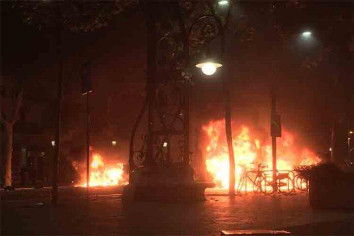 Las protestas del martes por la noche en Barcelona