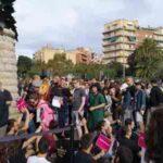 Manifestantes se congregan en la Sagrada Familia para bloquear el paso
