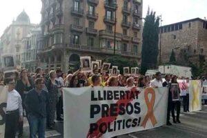 Protestas en Via Laietana tras conocerse la sentencia del procés