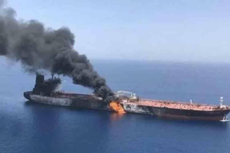 Un ataque con misiles a un petrolero iraní provoca un derrame de crudo