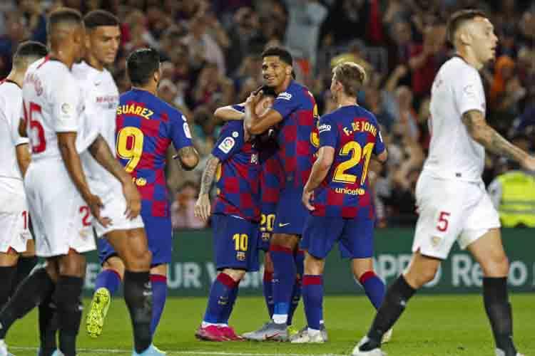 Victoria contundente del Barcelona al Sevilla 4-0
