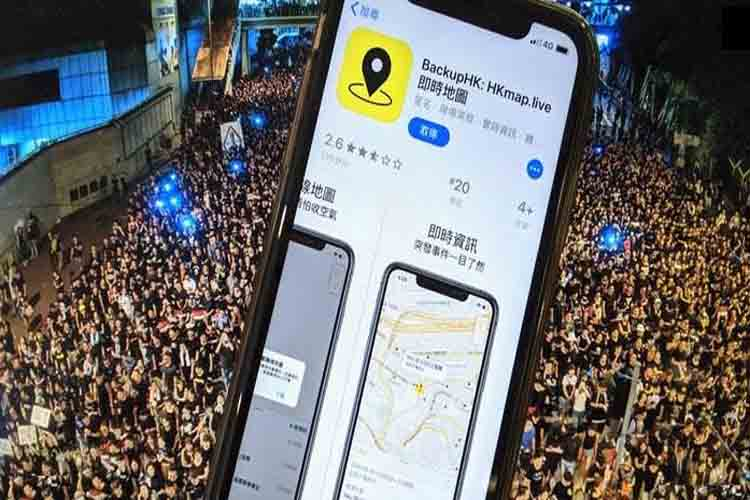 Apple ha eliminado una App que permite a los manifestantes en Hong Kong observar a la policía
