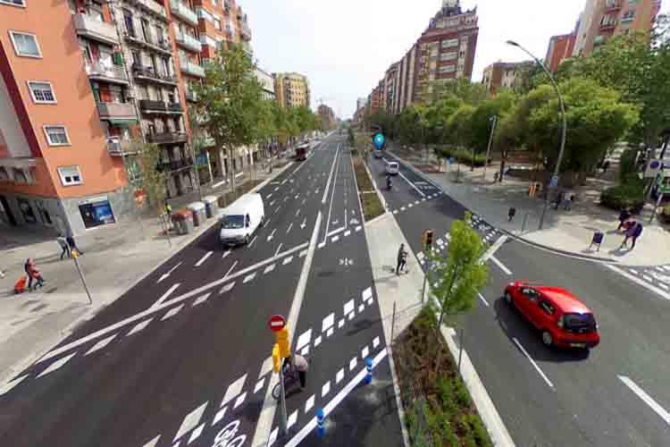 La remodelación de la Meridiana de Barcelona se extenderá hasta Navas