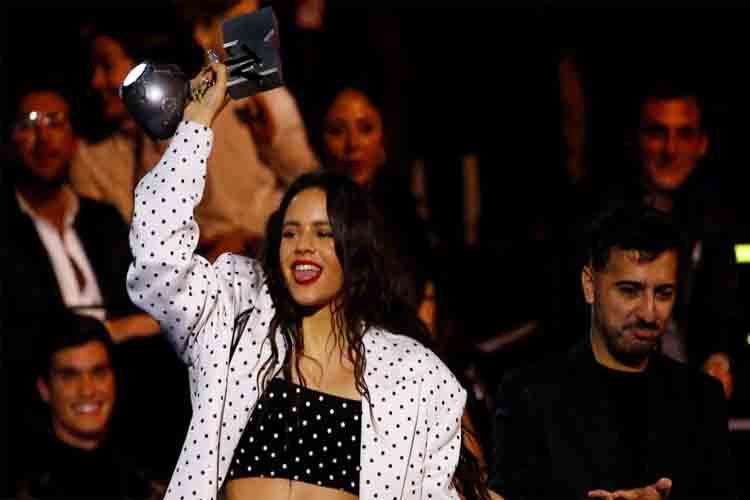 Rosalía y J Balvin ganan 'Mejor colaboración' en los premios MTV