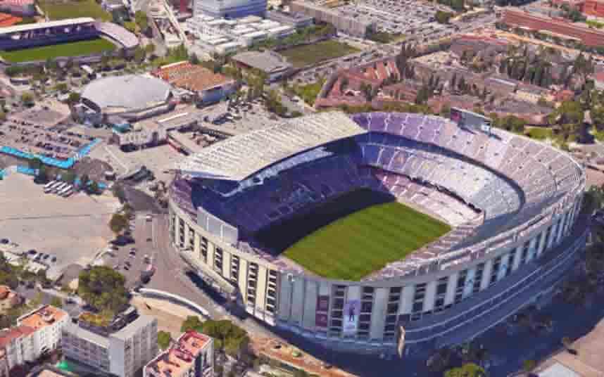 Barcelona comienza la renovación de las zonas verdes en el entorno del Camp Nou