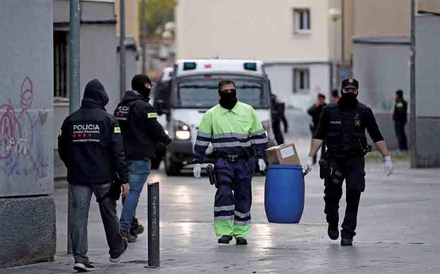 La redada de Badalona se salda con la incautación de 59 kg. de cocaína y 1,5 millones de euros