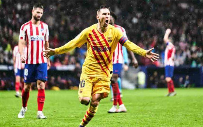 Lionel Messi hunde al Atlético de Madrid y coloca al Barcelona en la cima
