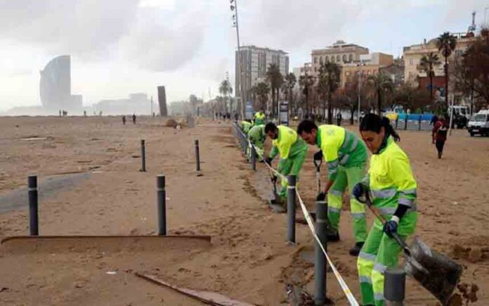 Barcelona solicitará la declaración de zona catastrófica en el litoral