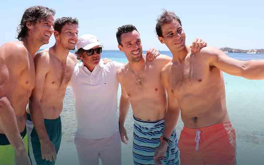 El equipo de ATP Tour con Rafa Nadal llegan a Little Parakeet Bay en Australia