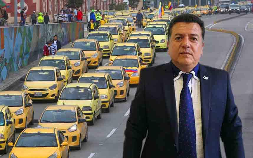 El presidente de los taxistas de Colombia denuncia amenazas de muerte