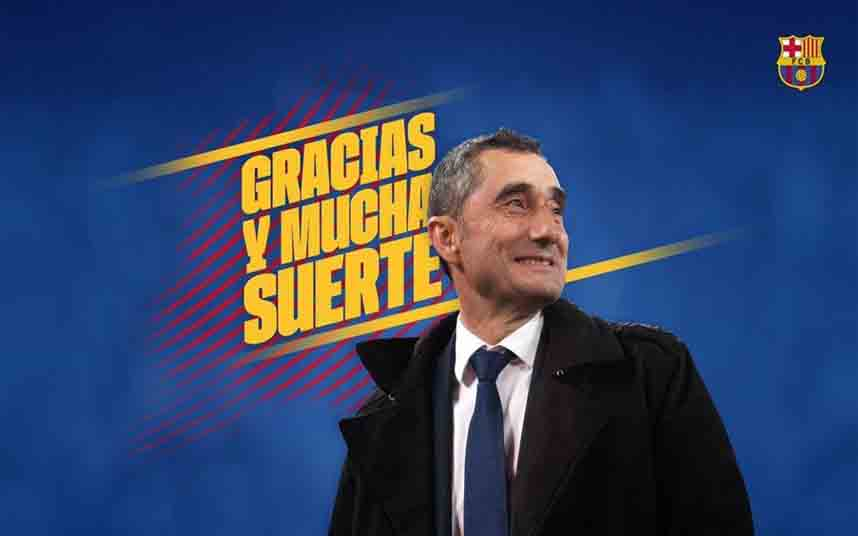 Ernesto Valverde se despide de la afición del Barça con una emotiva carta