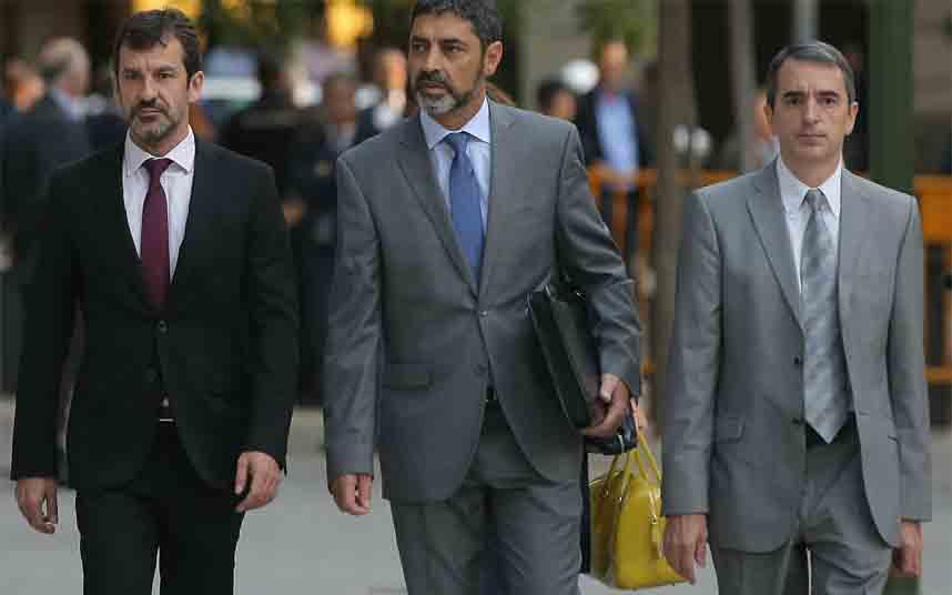Los Mossos afrontan el juicio a Trapero junto al actual Mayor