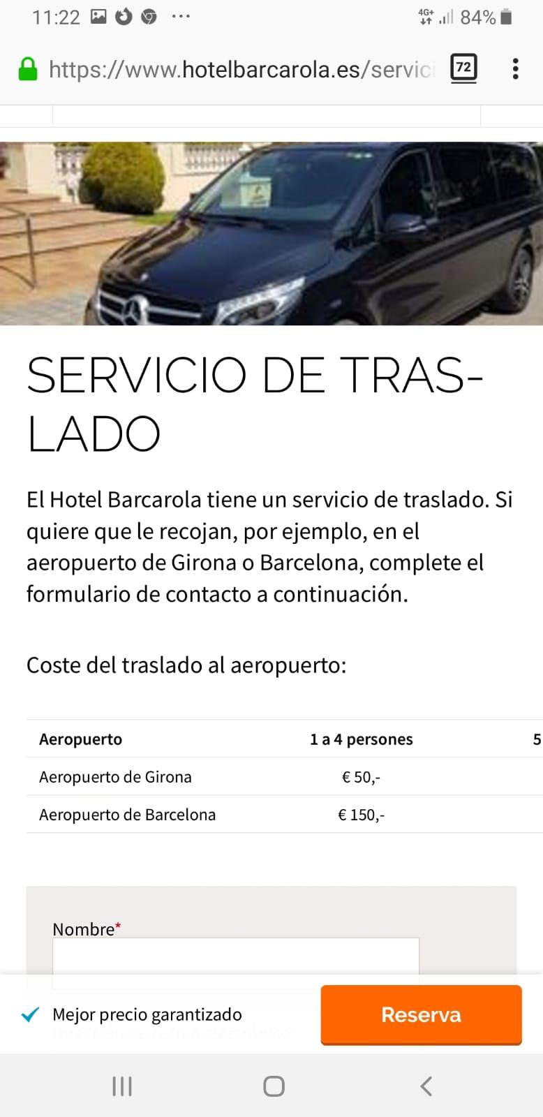 El Hotel Barcarola de Sant Feliu de Guíxols realiza transporte ilegal