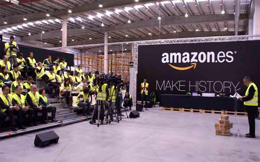 Evacuada la sede de Amazon en Madrid tras una falsa amenaza de bomba