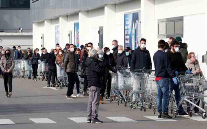 Tercer muerto por coronavirus en Italia y 150 contagiados