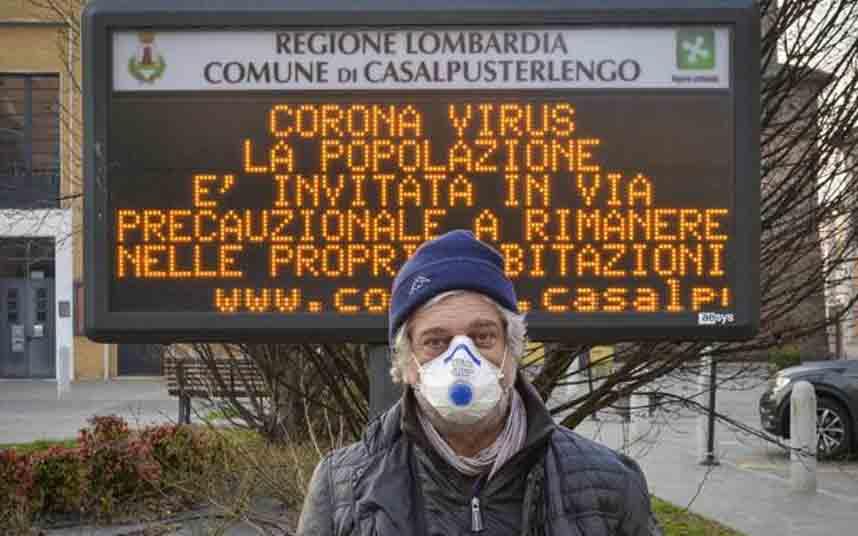 Ya son siete los fallecidos por Coronavirus en Italia, con 222 contagiados