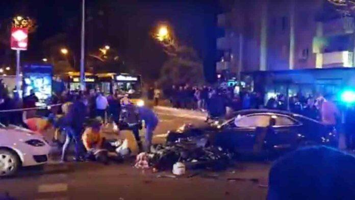 Fallece un motorista y otra persona herida en Badalona en una persecución policial