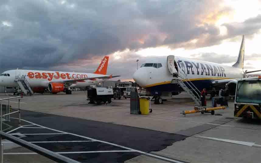Ryanair, easyJet y Jet2 no tienen vuelos disponibles desde España al Reino Unido