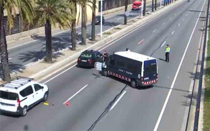 Se reduce en un 71% el tráfico diario en Barcelona debido al confinamiento