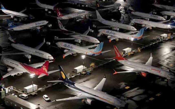 En transporte aéreo en el suelo, antes de tocar el suelo