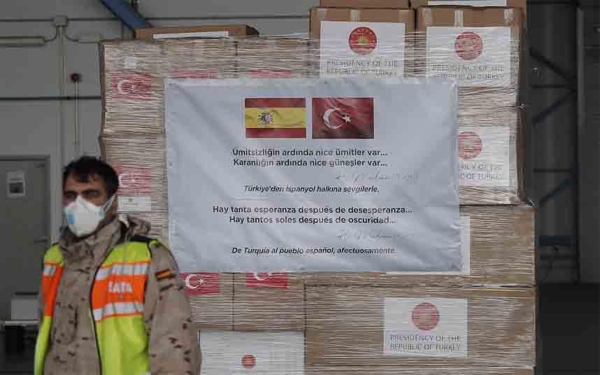 Erdogan transmite el apoyo a España e Italia en medio de la crisis COVID-19