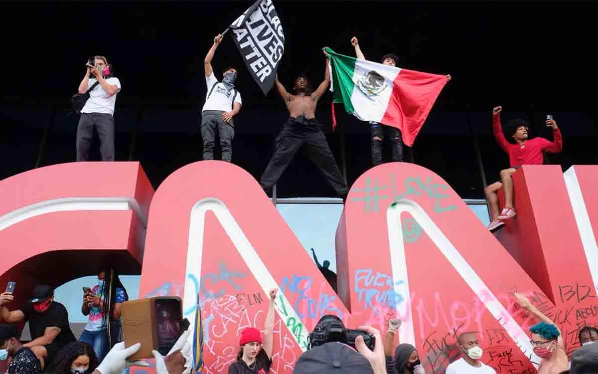 Ataque a la sede de la CNN en Atlanta por las declaraciones racistas de un reportero