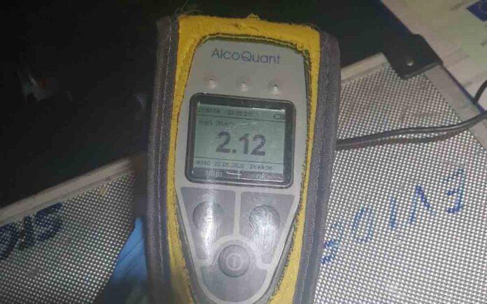 Detenido un conductor por una tasa de alcohol 14 veces superior a la permitida