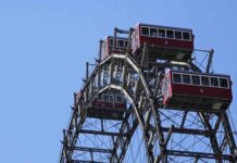 La simbólica noria gigante de Viena y la economía vuelven a girar