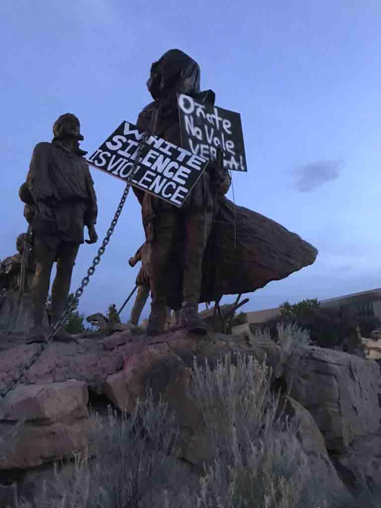 Disparan a un hombre durante la retirada de la estatua de Oñate en Albuquerque